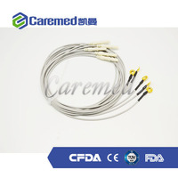 EEG cable,Cup electrode EEG cord, gold plated electrode