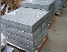 G603 Light Grey Granite Carved Tombstone, China Granite Monument
