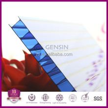 High quality plastic building materials Blue twinwall PC polycarbonate hollow sheets