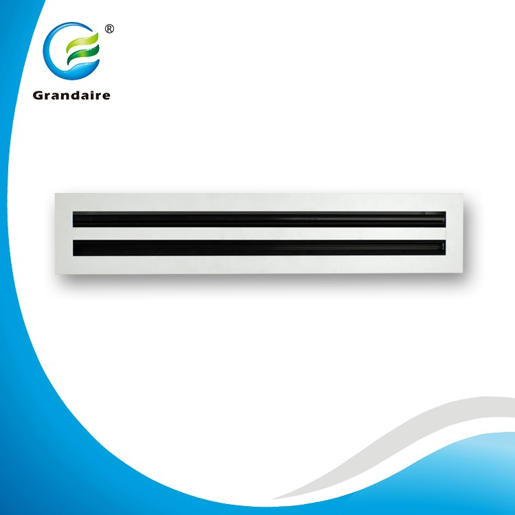 China Factory Aluminum Air Ceiling Linear Slot Diffuser Air Grille for Effcient Air Distribution in White Color