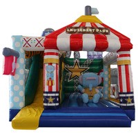 Wholesale bouncy house rental prices children's water park inflatable castle slide