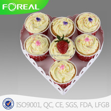 single tier heart shape wedding 7 pcs cup cake stand