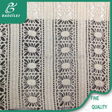 White milk coral lace fabric bandung embroidery for neck design lace for churidar