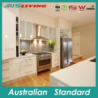 AIS LIVING 2015 hot sale high quality display PVC white kitchen cabinets for sale