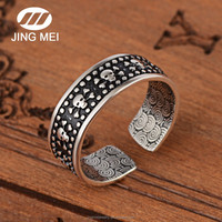 Jewelry making silver plated Metal O Rings, Adjustable Thai Silver Rings for men