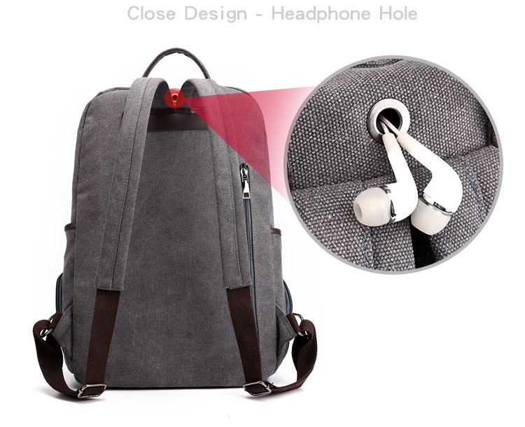 Fashion Lightweight Travel 15.6 inch Computer bag Waterproof rucksack School Laptop Canvas Backpack