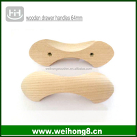 Manufacture Natural Ash Wood Drawer Handle