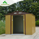 new gable roof style outdoor imitating wooden prefabricated sheds HX81122