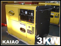 air-cooled 4 stroke engine power small 3kw portable silent diesel generator