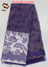 african lace fabrics heavy net fabric with sequins