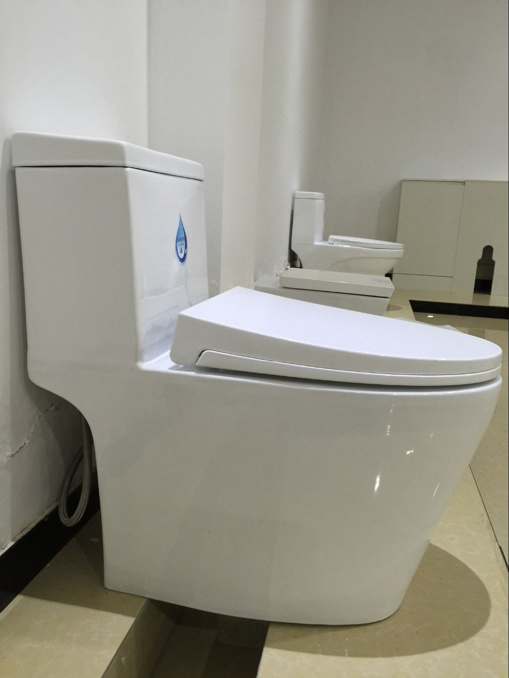 Cheap Bathroom Toilet One Piece S Trap Wc Siphonic Toilet