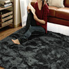 anti-dust polyester shaggy shiny carpety rug