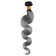 #1B/Grey 100g 100% Virgin Human Hair Ombre Body Wave Hair Weave Extensions Hair Weft