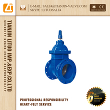 din ductile iron gate valve f4 f4 resilient seat epoxy coating rising stem