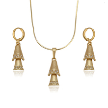 60553-xuping 14k gold jewelry wholesale small bell shape jewelry set, women artificial jewellery