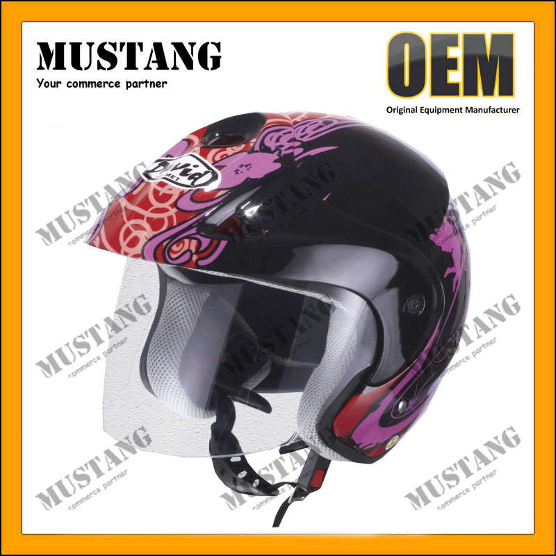 New Dual Visor Various Colors Street Sport Bike Half Face Motorcycle Helmets
