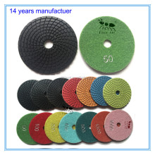 "4 inch/ 4"" Granite/marble/quartz Diamond polishing pad, stone diamond dics"