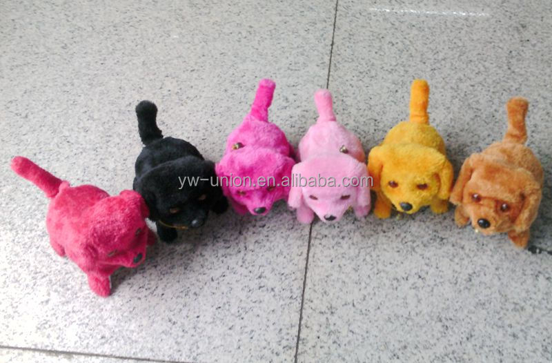 2014 Factory new style CZAG(281)13*15cm colorful battery operated walking dog toy