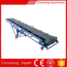 Sand quarry wholesale price inclined rubber belt conveyor