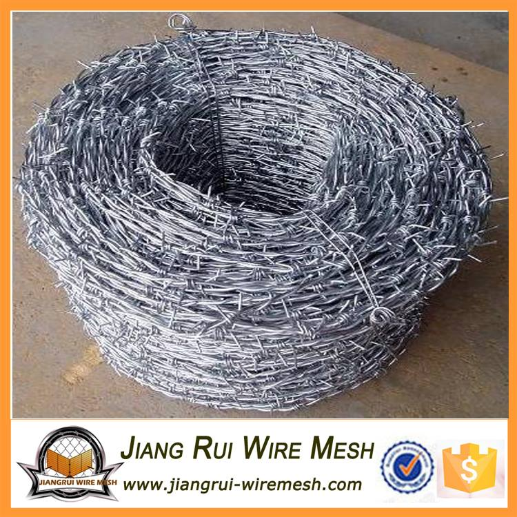 12#X14#barbed wire factory export galvanized barbed wire Best barbed wire