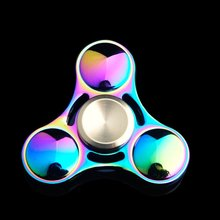 2017 Promotional Educational Toys High Speed Metal Bearing 1-5 Min Spins Led Fidget Spinner