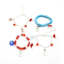 Promotional Customerized Colorful Resin Beaded Christmas Bracelet