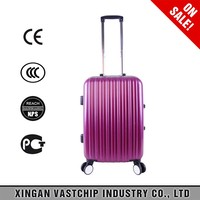 "Aluminum frame trolley bags 20"" 24"" 28"" ABS +PC high quality trolley luggage"