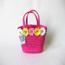 child picnic bag,child flower crochet bag,child beach bag
