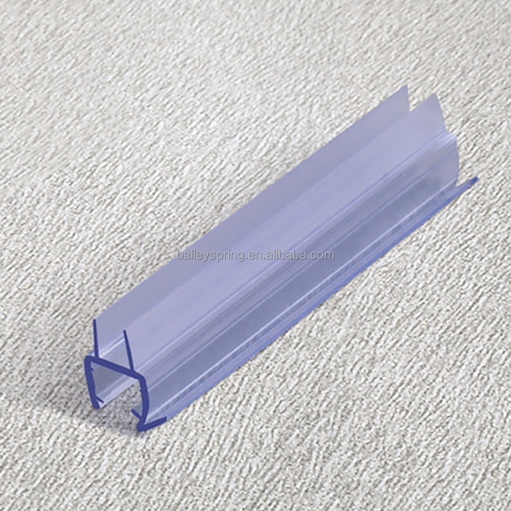 B009B Silicone Rubber Wooden Aluminum Glass Door Bottom Side Weatherstripping Windproof Sealing Strips