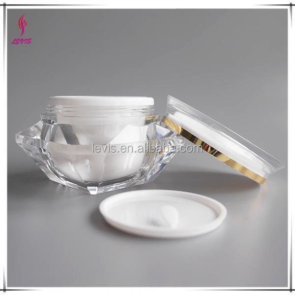 30g Empty acrylic jar transparent plastic packaging