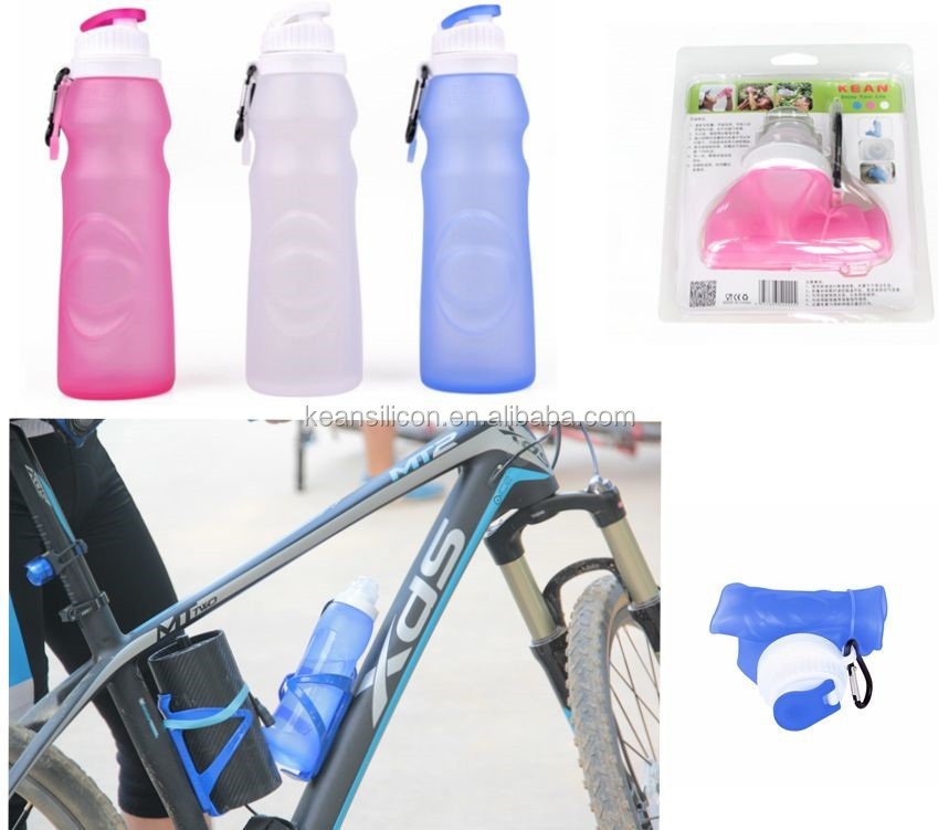 Easy Carry Silicone Bottle/FDA Approved Water Bottle Can Be Collapsible/BPA Free Folding Water Bottle