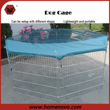 Indoor Outdoor Quick Mounting Portable 80x75x8PCS Aluminum Dog Cage with Removable Cover