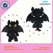 Plush cartoon stand plush black batman doll for Halloween festival