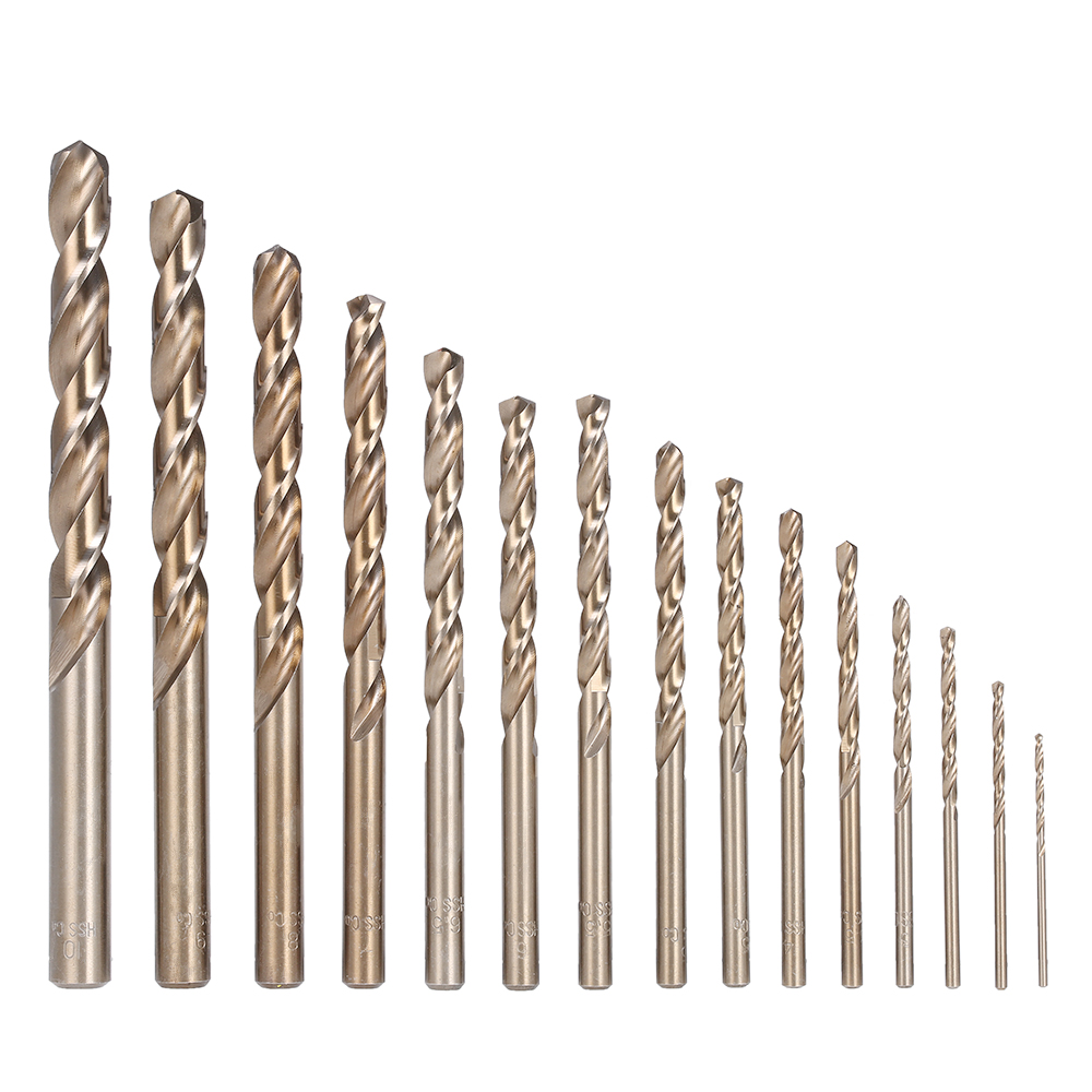 Cobalt HSS Drill Bit Set 0.5-3.5mm Twist Drill Bit Straight Shank Quality Wood work Metal Drilling Tool