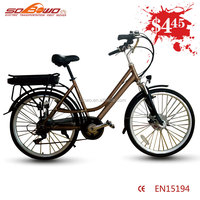 700C aluminum alloy frame commuter step through city electric vehicles