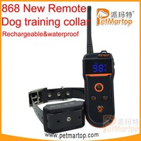 New Arrival PET868 Waterproof and Rechargeable Remote Control Dog Training Collar