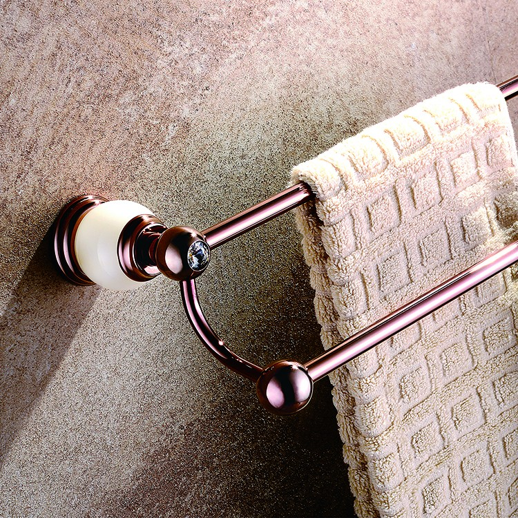 Classic Luxury Rose Gold Double Towel Bar Towel Holder Towel rack