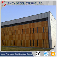 Aluminium space frame Grid Structure Curtain Wall for Gym/Hall