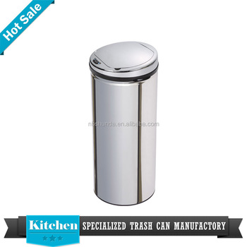 export advertising solar trash bin bottle dustbin