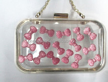 China Factory Price Indian Handicrafts Models Clear Clutch Bags Shoulder