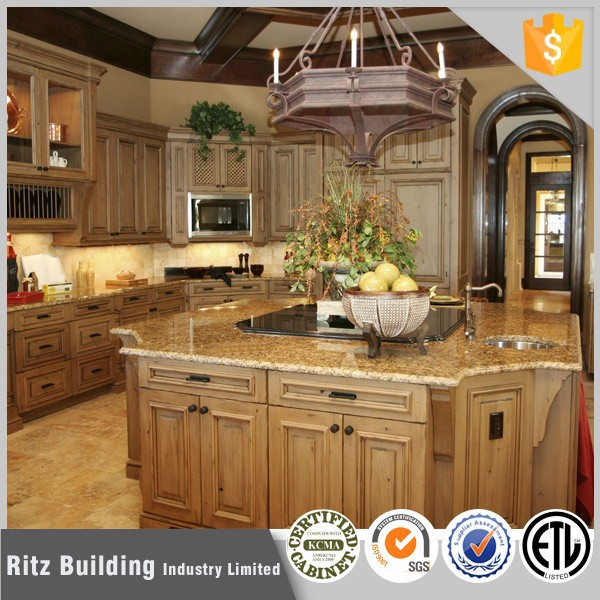 Solid wood modern kitchen furniture in kerala