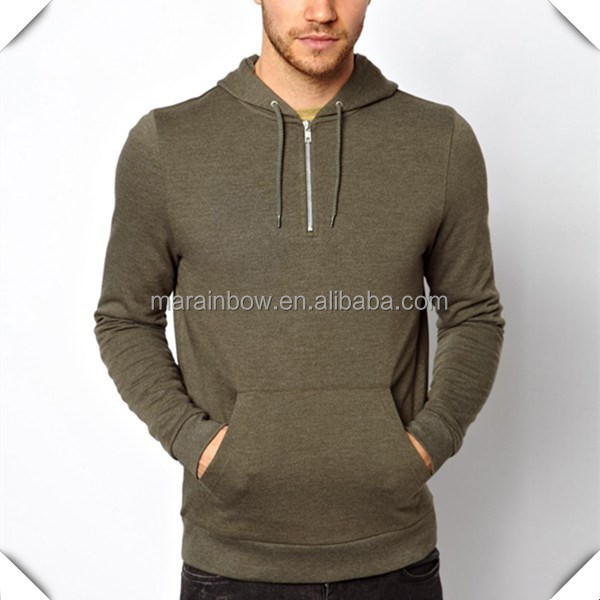 2015 new arrival supreme 1/4 zip men's fashion hoodie sweatshirt custom made with french terry wholesale