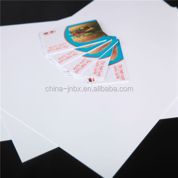 High quality Inkjet Transparent Glued PVC Coated Overlay Film