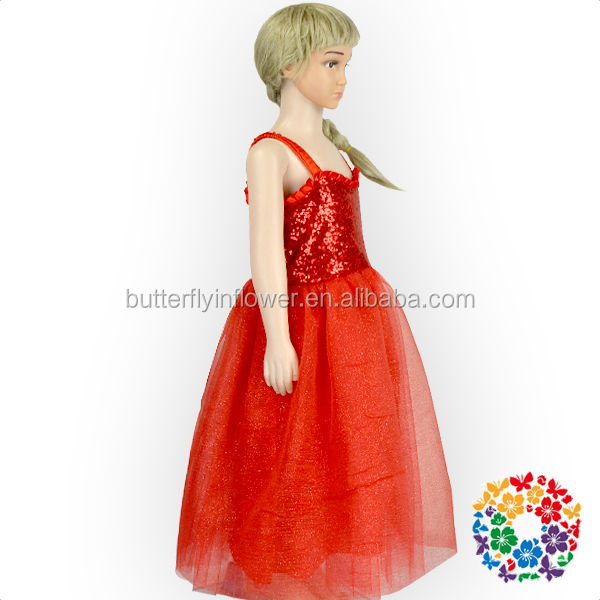 Baby Girl Summer Dress Red Sequins Christmas Kids Frock designs pictures