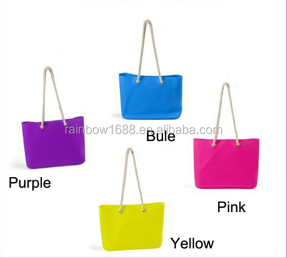Wholesale Soft Rubber Bag Soft Rubber Nice Design Silicon Beach bag for lady