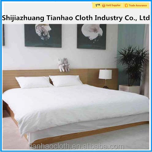 Make To Order new design 100 cotton medical / hotel textile fabric bed sheet