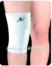 White color warm elastic running knee pad pattern