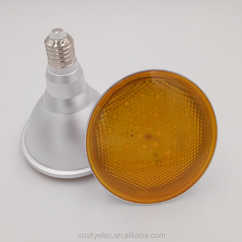 15w dimmable Par38 led light bulb waterproof orange light par38 led light