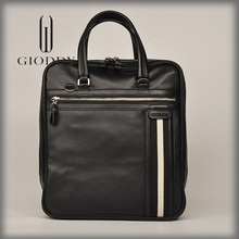 Nice design black gentlemen's design cow leather notebook bags