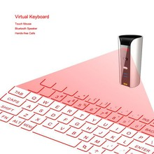 Aluminum Wireless Laser Projection Virtual Keyboard Mouse Speaker 3 in 1 for iPhone for iPad for Tablet